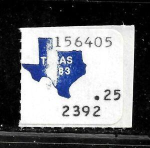 HICK GIRL-USED U.S. STATE REVENUE   25 CENT TEXAS UTILITY TAX       E843