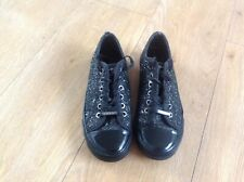 BLack DKNY sparkly flat shoes/pumps/trainers/lace up 3