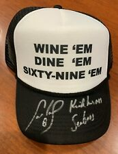 Cam Neely Bruins Signed Inscribed Kick his @$$ Seabass Dumb and Dumber Truck Hat