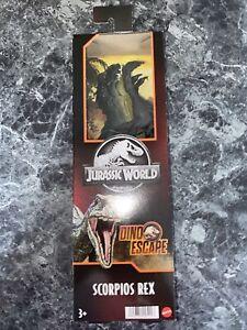 "RARE Jurassic World 12"" Figure Mattel Dino Escape Scorpios Rex Camp Cretaceous"