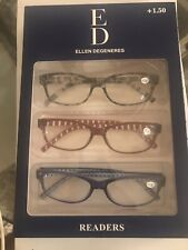 ED Ellen Degeneres Readers- 3 pack  +1.50 Strength New!