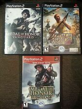 Medal of Honor: Rising Sun, Frontline, Vanguard LOT Sony PlayStation 2 PS2 works