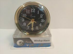 Equity by La Crosse Wind-Up Bell Brass Metal Case Analog Alarm Clock #12020 New