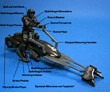 STAR WARS USA SAN DIEGO COMIC détenu EXCLUSIVE Shadow Scout avec Speeder Bike.C-10+