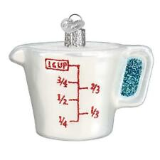 """""""Measuring Cup"""" (32392)X Old World Christmas Glass Ornament w/ OWC Box"""