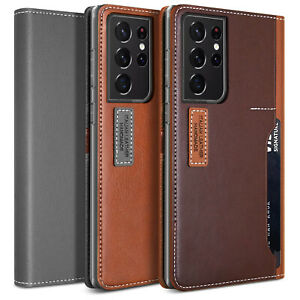 OBLIQ Galaxy S21 Ultra/ S21+ Plus Case [K3 Premium Wallet] Hand Made PU Leather