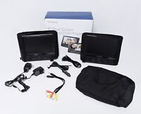 """Insignia NS-DS9PDVD15 9"""" Dual Screen Portable DVD Players"""