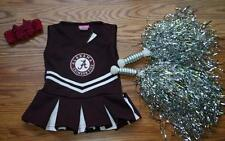HALLOWEEN CHEERLEADER OUTFIT COSTUME 0 - 6 MTHS ALABAMA POM POMS BOW ROLL TIDE