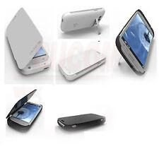 Samsung Galaxy S3 mobile Ladeschale Battery Power Case Zusatz Akku Flipcase weiß
