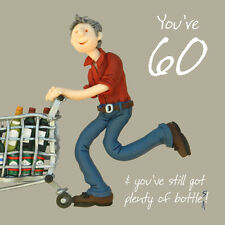 60th Birthday Male Greeting Card One Lump or Two Range Holy Mackerel Cards
