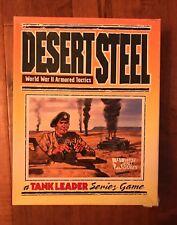 West End Wargame Tank Leader DESERT STEEL Board Game World War II *Complete*