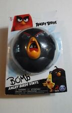 ANGRY BIRDS ACTION FIGURE Rovio BOMB BIRD Video Game Character VINYL FIGURE -NEW