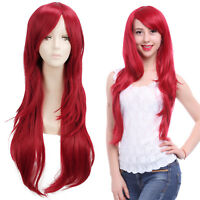 LOL Katarina Erza Scarlet Flaky Women Long Red Straight Hair Cosplay Wig Wigs