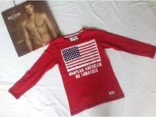 NO TOMATOES 140/146  Longsleeve Pullover LA T-Shirt Sweatshirt rot USA FLAGGE