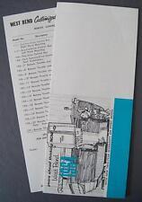 Orig 1964 West Bend Outboard Motor Dealer Pocket Brochure & Price List Canada