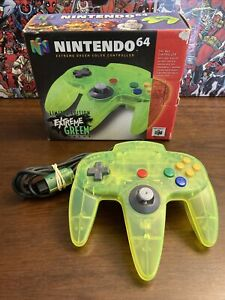 Nintendo 64 N64 Extreme Green Controller Toy R Us Limited Edition In Box - RARE