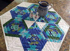 HEXAGONS IN PARADISE TABLE TOPPER SEWING PATTERN, From Cut Loose Press Patterns
