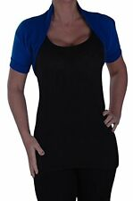 Womens Ladies Casual Plain Short Sleeve Cardigan Tops Fashion Bolero Shrugs