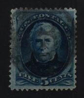 1879  Sc 185 used single, blue  CV $16