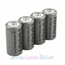 4x 2200mAh 16340 CR123A Rechargeable Li-ion Battery For LED Flashlight Torch