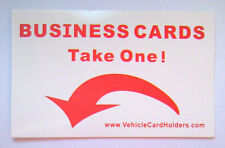 """5x """"PRENDI UNA"""" Adesivi per veicoli commerciali i titolari della carta di credito-ricambi per auto furgoni"""