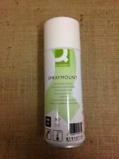 Q-Connect fine spray clear mount adhesive 400ml - repositionable - spray glue