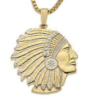 """Indian Chief Pendant & Necklace Hand Cut Indian Medallion, 7/8"""" ( # 682B  )"""