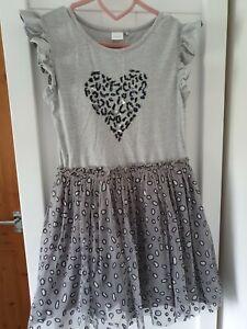 Girls grey Next dress age 10