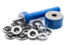 10mm Grommets eyelets marine grade stainless steel rolled rim heavy duty tools