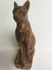 Egyptian cat stone carved statue figurine Rustic Small Made In Egypt