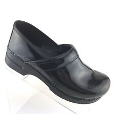 Dansko Professional Black Patent Leather Nursing Clog Mule Womens 11.5 - 12 / 42