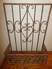 Wrought Iron Wall Planter Basket