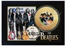 The Beatles Beatles For Sale Mini Gold Vinyl CD Record Signed Framed Photo Print