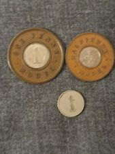 Victorian Model Penny and Halfpenny Together With A Detached Centre