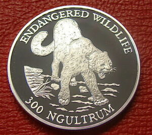 1991--Bhutan--Large Silver 300 Ngultrums Coin--Proof Like---.925 Sterling Silver