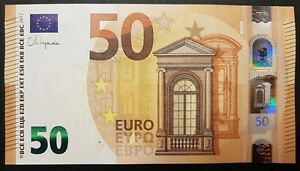 Greece-UNC banknote 50 Euro Y004  Signature Christine Lagarde 2017