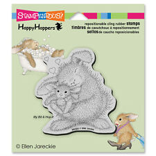 HOUSE MOUSE RUBBER STAMPS CLING HAPPY HOPPERS BUNNY LUV cling STAMP
