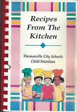 * THOMASVILLE NC 1998 SCHOOLS COOK BOOK RECIPES FROM THE KITCHEN * LUNCH LADIES