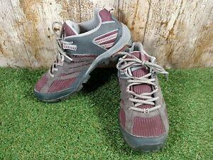 Columbia techlite womens walking hiking shoes purple/grey omni grip size 5.5 UK