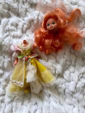 LADY Lovely Locks * rotto * 1980 MATTEL Maiden CurlyCrown VINTAGE ORANGE doll