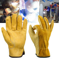 2PC High Quality Cowhide Welder Welding Glove Work Safety Protection Gauntlets