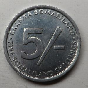 Somaliland 5 Shillings 2005 Aluminum KM#19 UNC