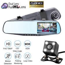 New listing 4.3 1080P Dual Lens Car Auto Dvr Mirror Dash Cam Recorder Rear View Camera He
