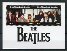 Central African Rep 2017 estampillada sin montar o nunca montada los Beatles John Lennon 2 V m/s sellos de música