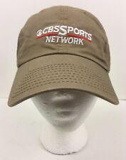 CBS Sports Network Beige Baseball Cap Hat Adjustable Strap Size P - Unworn