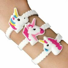 12 Unicorn Adjustable Bracelets - Pinata Toy Loot/Party Bag Fillers Wedding/Kids