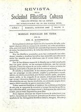 KUBA: REVISTA de la Sociedad Filatélica de La Misma (1902/03)