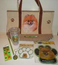 Pomeranian Dog Tote Mousepad Notepad Bookmark Keychain Tumbler Pen 7 pc Gift Set