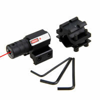For Gun Rifle Tactical Red Laser Dot Sight Scope 11~22mm Picatinny Mount set