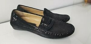 VANELI Women's Shimmer Suede Leather Driving Loafers Moccasin Shoes Flats 8 M